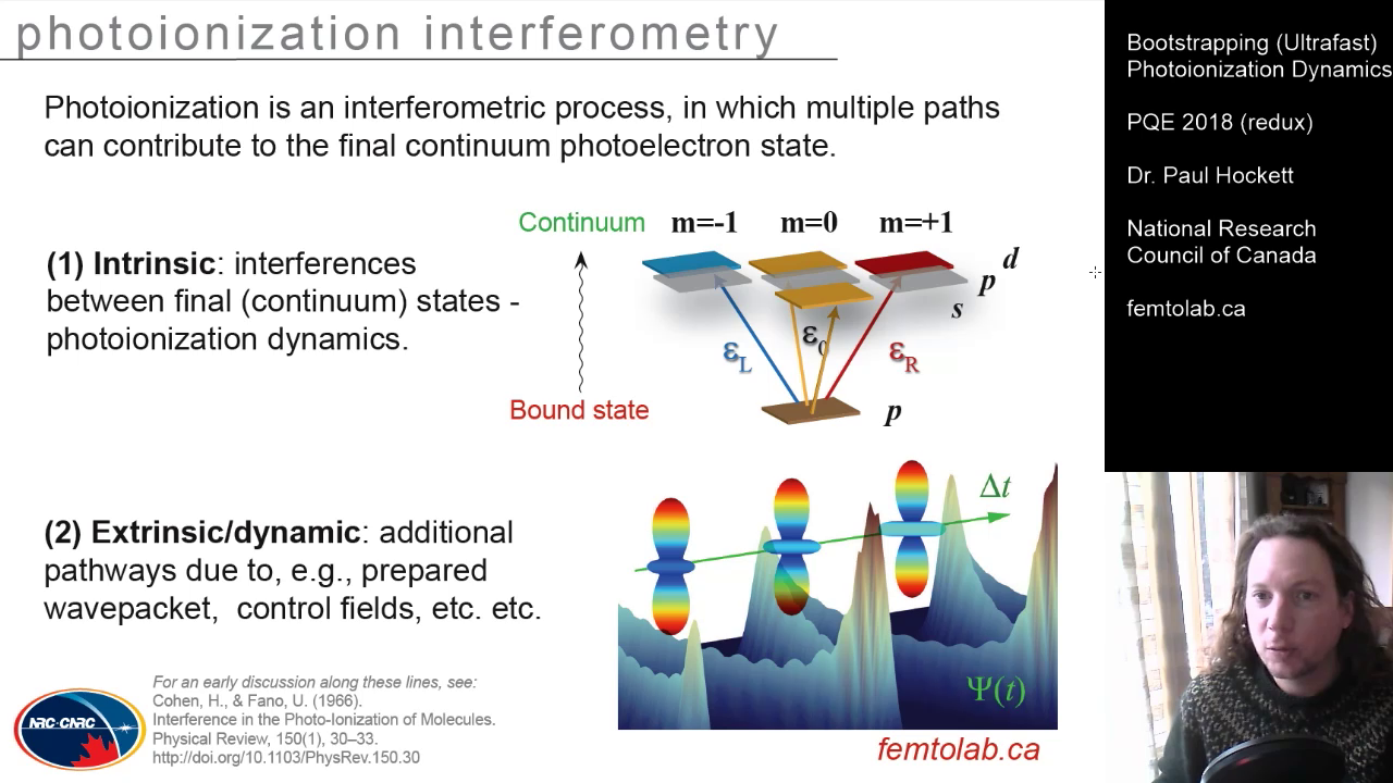 Bootstrapping (Ultrafast) Photoionization Dynamics – PQE 2018 (extended) video
